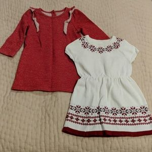 Set of Gymboree Christmas dresses